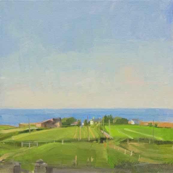 "Jeffrey Reed, Doonfeeny 10"" x 10""  Oil On Panel"