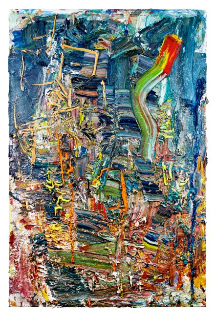 """Writing The City  72"""" x 48""""  Oil On Linen"""