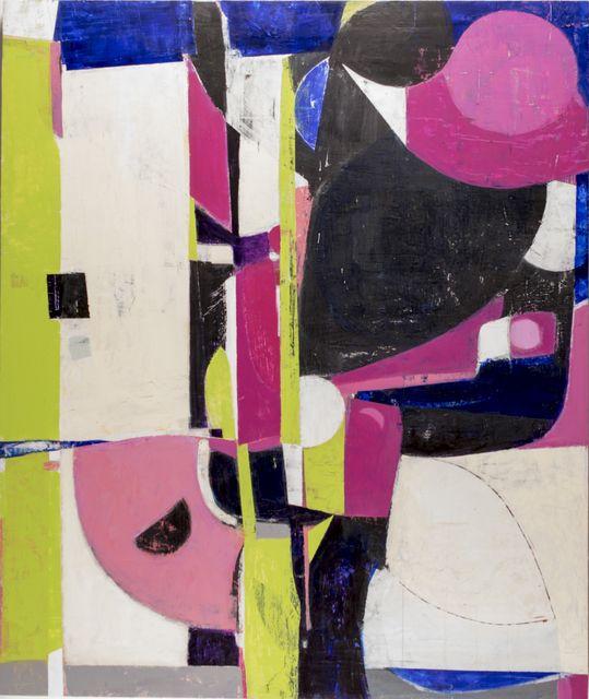 """White Leaf  40.5"""" x 48""""  Acrylic On Panel"""