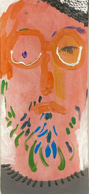 """Ben With A Knit Cap  15"""" x 6.75""""  Acrylic On Canvas"""