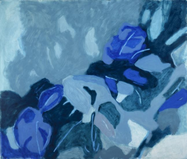 """Blue Works  51"""" x 60""""  Oil On Canvas"""