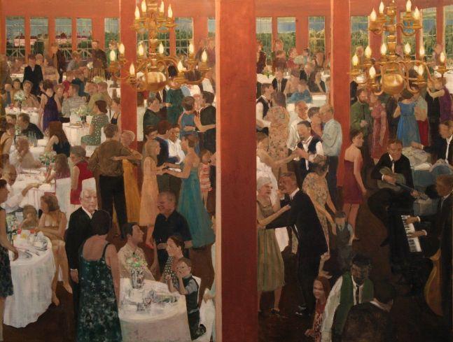 "Weddings Before The War (Deaf Republic Series)  47"" x 62""  Oil On Canvas"