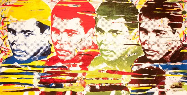 Mr. Brainwash, The Greatest, 2014, Screenprint on Archival Paper, 37 x 70 inches, Edition 13 of 70