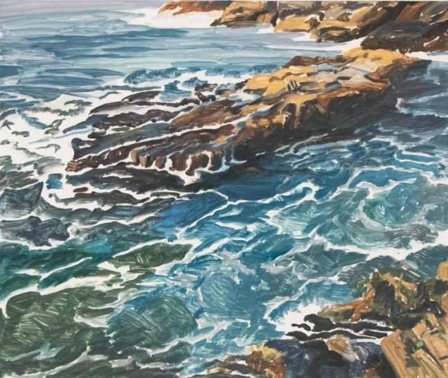 Susan Shatter, Seascape, 1996, Oil on paper, 25 x 29 inches