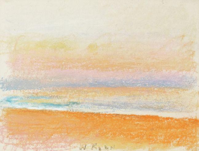 Wolf Kahn, A Beach in Kauai, 1994, Pastel, 9x12, Wolf Kahn Pastels for sale, Wolf Kahn artwork
