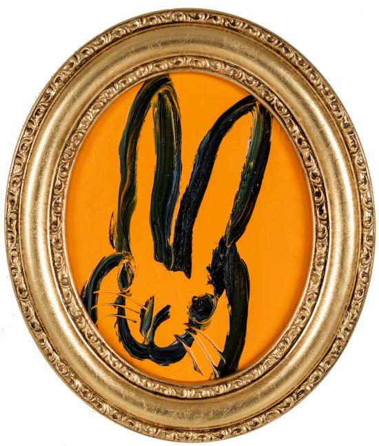 Hunt Slonem, Conguat Bunny painting, 2021, oil on wood, 10 x 8 inches, Hunt Slonem Bunny painting