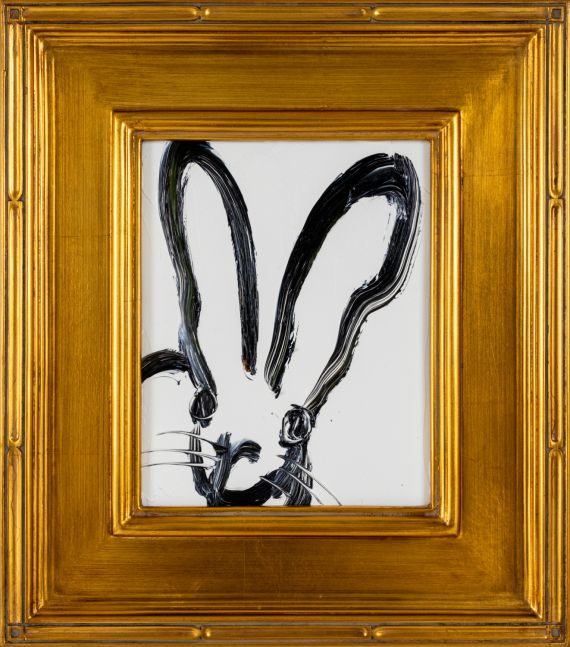 Hunt Slonem, Today (White Bunny), 2021, Oil on wood, 10 x 8 inches, hunt slonem bunny