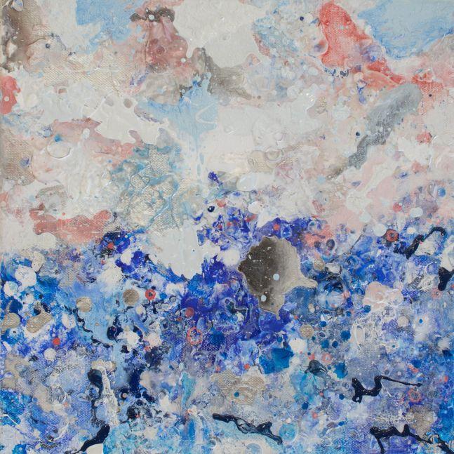 Jill Krutick, Dreamscape (Small #1), Acrylic on canvas, 12 x 12 inches