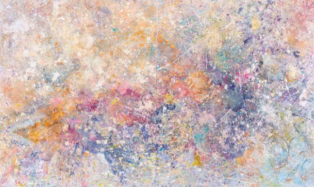 Jill Krutick, Neverland, 2019, Acrylic on canvas, 72 x 120 inches