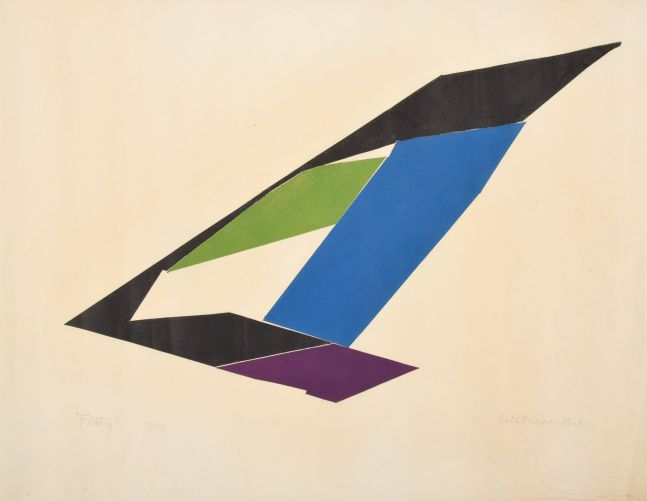 Roert Conover, Floating, 1969, color screenprint on paper, 26.25 x 24.5 inches, ed 2_25, Robert Conover artworks for sale