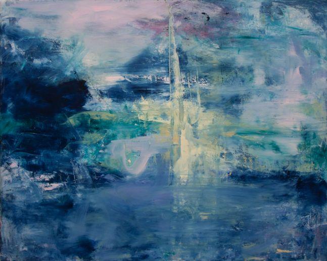 Dann Snyder, Jet d'eau, 2007, Oil on canvas, 32 x 40 inches