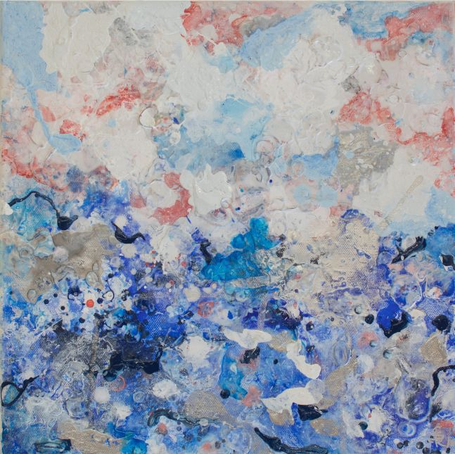 Jill Krutick, Dreamscape (Small #4), Acrylic on canvas, 12 x 12 inches