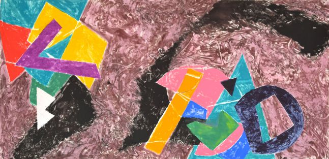Tom Holland, Untitled, 1987, Oil Monotype on paper, 41.5 x 84inches, Tom Holland Artworks for sale