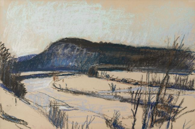Wolf Kahn, A Study for Winter, 1984, Pastel, 12x18 inches, Wolf Kahn pastel, Wolf Kahn pastel for sale
