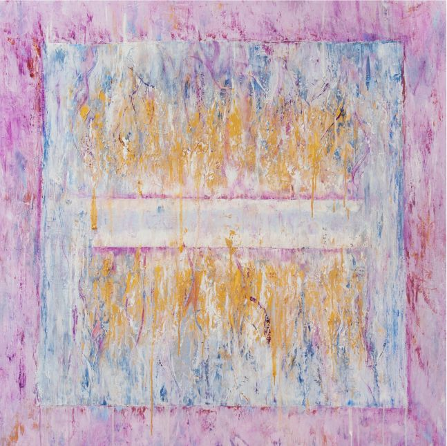 Jill Krutick, Ice Cube (Lilac), 2018, Oil on canvas, 60 x 60 inches