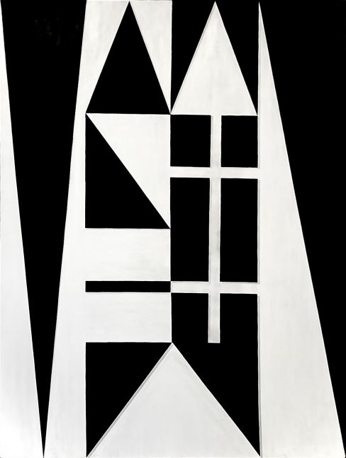 Ron Burkhardt, Manhattan Noir (NYC Letterscape), 2019, Acrylic painting on Canvas, 40 x 30 inches, contemporary art for sale