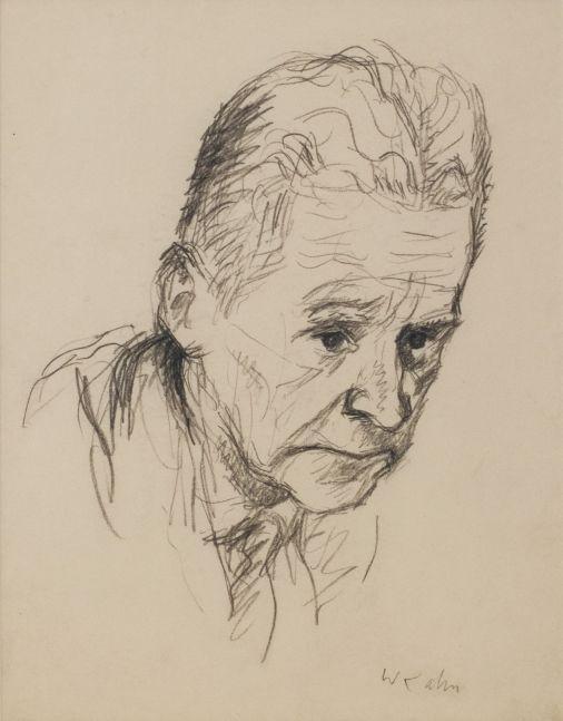 Wolf Kahn, Juror, 1967, Pencil on Paper, 11 x 8.5 inches, Wolf Kahn art for sale, Wolf Kahn Drawings