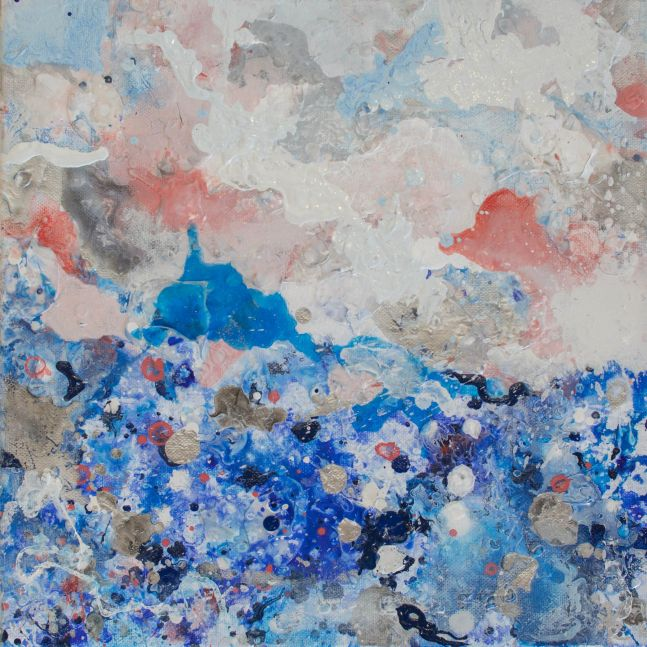 Jill Krutick, Dreamscape (Small #2), Acrylic on canvas, 12 x 12 inches