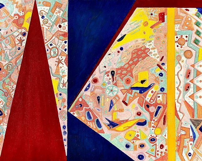 Ron Burkhardt, A-R-T, 2013, Acrylic on Canvas, 16h x 20w