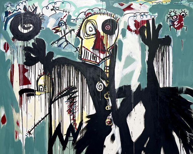 fernanda Lavera, Huyendo II, 2019, Graffiti and Street Art for Sale at Manolis Projects Art Gallery, Miami, Fl