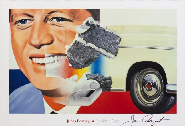 James Rosenquist President Elect Lithograph, 1960, 24 x 36 inches, James Rosenquist Art For Sale