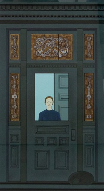 Will Barnet, The Doorway Artist Proof, 20 x 36 inches, Will Barnet lithograph for sale at Manolis Projects Art Gallery, Miami Fl
