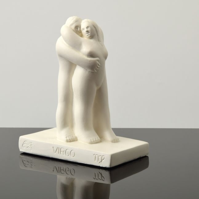 Tom Otterness, Virgo, 1982, Zodiac Love Series, Painted Plaster, 7.25h x 6w x 3.5d inches
