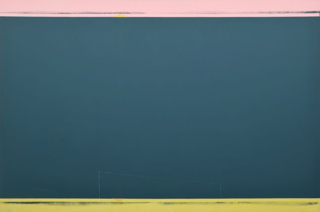 Peter Nadin, The Usual Silence, 1986, oil on canvas, 63 x 96 inches