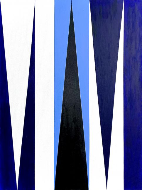 Ron Burkhardt, Miami Blues (Letterscape), 2019, Acrylic painting on Canvas, 40 x 30 inches, contemporary art for sale