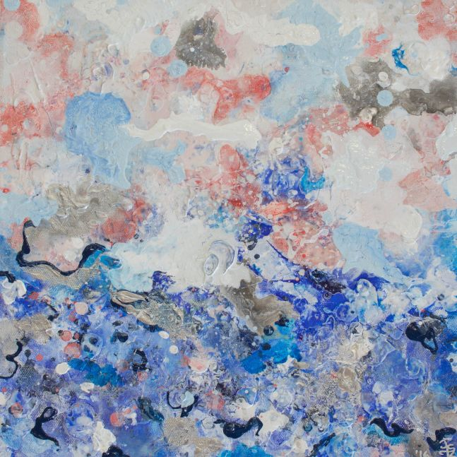 Jill Krutick, Dreamscape (Small #3), Acrylic on canvas, 12 x 12 inches