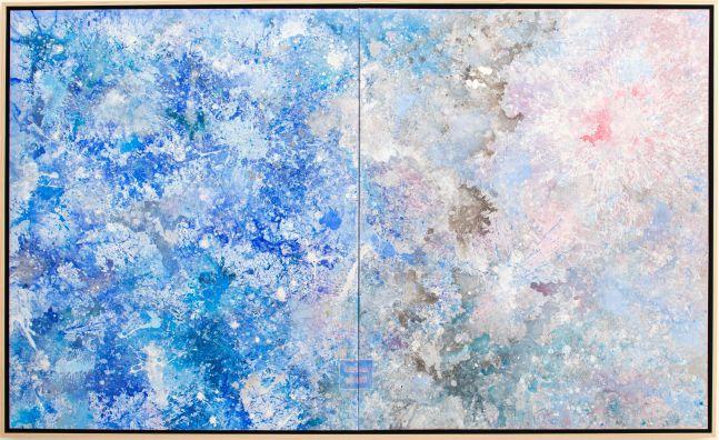 Jill Krutick, Dreamscape Surprise, 2018. 72 x 108 inches, Acrylic on Canvas