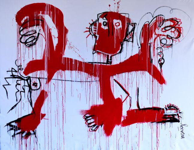 Fernanda Lavera, Danza con el Diablo, 2019, Graffiti and Street Art for Sale at Manolis Projects Art Gallery, Miami, Fl