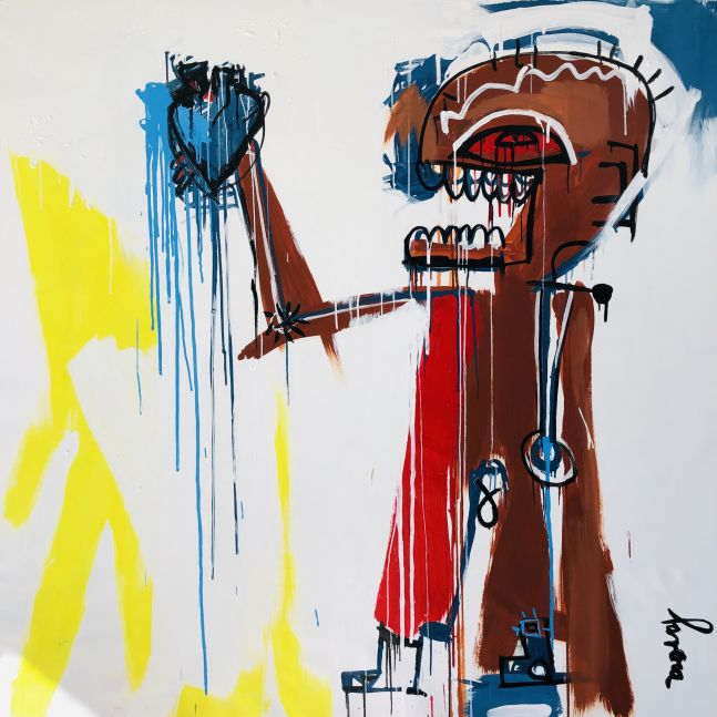 Fernanda Lavera, Corazon Metalico, I, 2019, Graffiti and Street Art for Sale at Manolis Projects Art Gallery, Miami, Fl