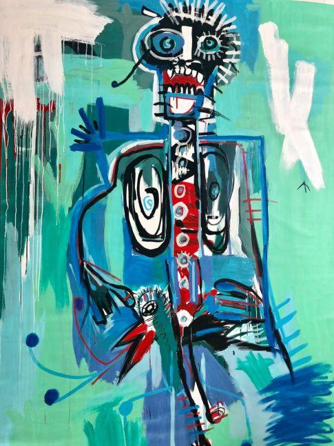 Fernanda Lavera El Hombre de Pajaro, 2018, Graffiti and Street Art for Sale at Manolis Projects Art Gallery, Miami, Fl