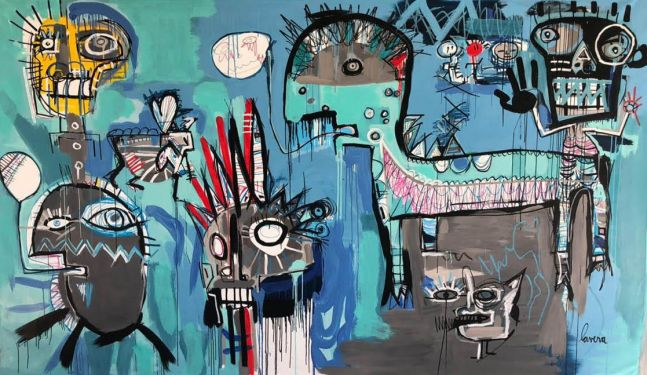 Fernanda Lavera, Juego Solitario II, 2019, Graffiti and Street Art for Sale at Manolis Projects Art Gallery, Miami, Fl