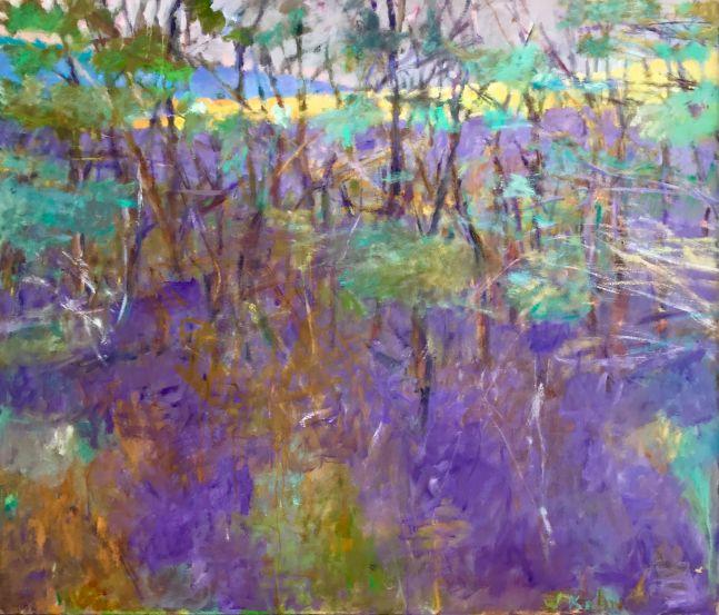 Wolf Kahn, Blue Ridge II, 1997, oil on linen, 52 x 60 inches, Wolf Kahn Landscape Paintings, Wolf Kahn Oil Paintings, Wolf Kahn art For Sale