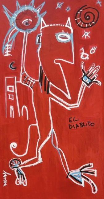 Fernanda Lavera, El Diablillo, 2019, Graffiti and Street Art for Sale at Manolis Projects Art Gallery, Miami, Fl
