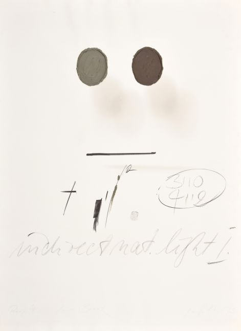 George Stever, Indirect Natural Light 1973, Lithograph with 3D elements in acrylic paint, 41.5 x 29.5 inches, Proof 1_5