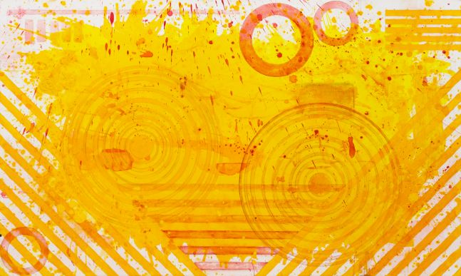 J.Steven Manolis, Sunshine (36.60.05), #5 sunshine series, 2020, acrylic and Latex Enamel on canvas, 36 x 60 inches, Yellow Abstract Expressionism Paintings for Sale at Manolis Projects Art Gallery, Miami Fl