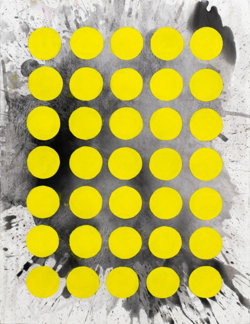 J. Steven Manolis, Sunshine (The Light After the Darkness)(30.22.01), 2020, Watercolor and acrylic on arches paper, 30 x 22 inches, Sunshine art, Yellow and black Abstract Art for Sale at Manolis Projects Art Gallery, Miami Fl