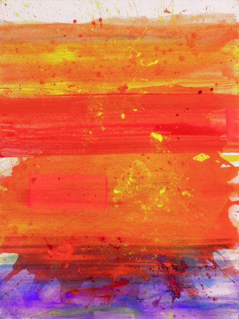 j. Steven Manolis, Palm Beach Light (Sunset), 2019, Acrylic on canvas, 48 x 36 inches, Tropical sunset painting, Abstract expressionism art for sale at Manolis Projects Art Gallery, Miami, Fl