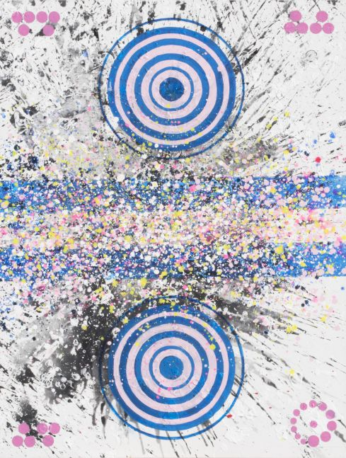 j. Steven Manolis, Hamptons 27 (Four Seasons-Spring), 2016, Acrylic painting on canvas, 48 x 36 inches, Geometric Abstract Painting, Abstract Expressionism art for sale at Manolis Projects Art Gallery, Miami, Fl