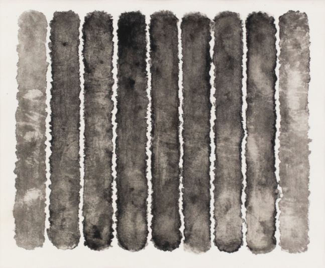 J. Steven Manolis, Molecules (Black & White), 2008, watercolor, 18 x 20 inches, Black and White Abstract painting, Abstract expressionism art for sale at Manolis Projects Art Gallery, Miami, Fl