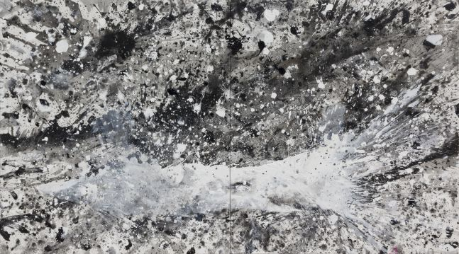 J. Steven Manolis, Black & White (Hurricane), 2015.06, Large Black and White Wall Art, Abstract expressionism art for sale at Manolis Projects Art Gallery, Miami, Fl