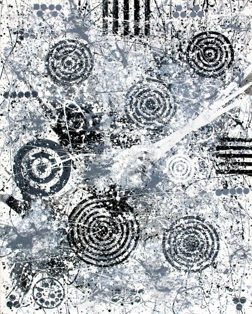 J. Steven Manolis, Tolerance...Black, White, Grey, 2015, 60 x 48 inches 2015.05, Large Black and White Wall Art, Abstract expressionism art for sale at Manolis Projects Art Gallery, Miami, Fl