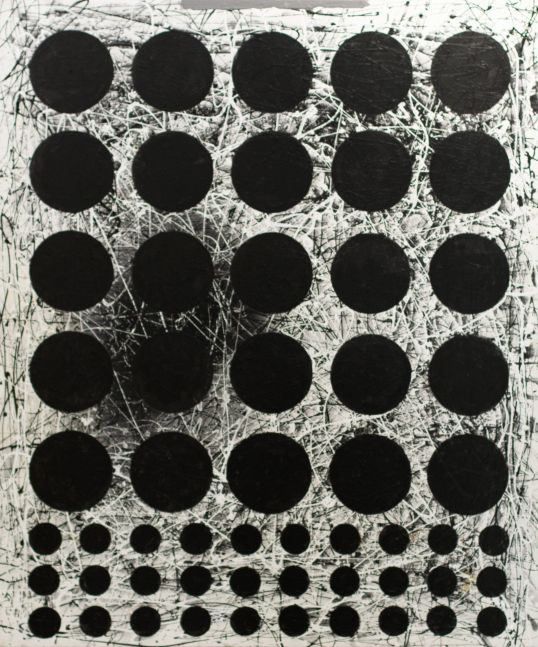 J. Steven Manolis,  Black & White (Graphic) 2020, 72 x 60 inches, Acrylic and Latex Enamel on Canvas