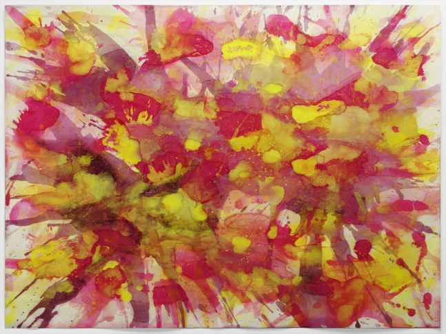 j. Steven Manolis, Montauk Sunrise 2014.02, watercolor and gouache on paper, 30 x 40 inches, Abstract Expressionism paintings for sale at Manolis Projects Art Gallery, Miami, Fl