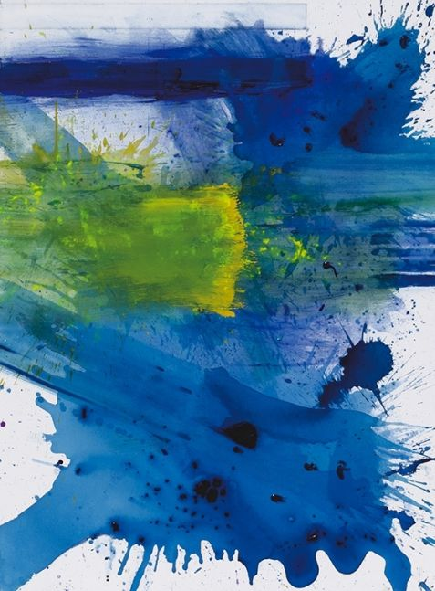 j. Steven Manolis, Palm Beach Light, 1300 Hours, 2019, Acrylic painting on canvas, 48 x 36 inches, Gestural Abstraction, Abstract expressionism art for sale at Manolis Projects Art Gallery, Miami, Fl