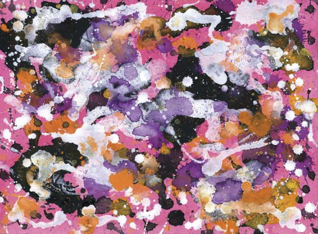 J. Steven Manolis, Azalea 1, 2005, gouache and watercolor on paper, 12 x 16 inches, For sale at Manolis Projects Art Gallery, Miami Fl