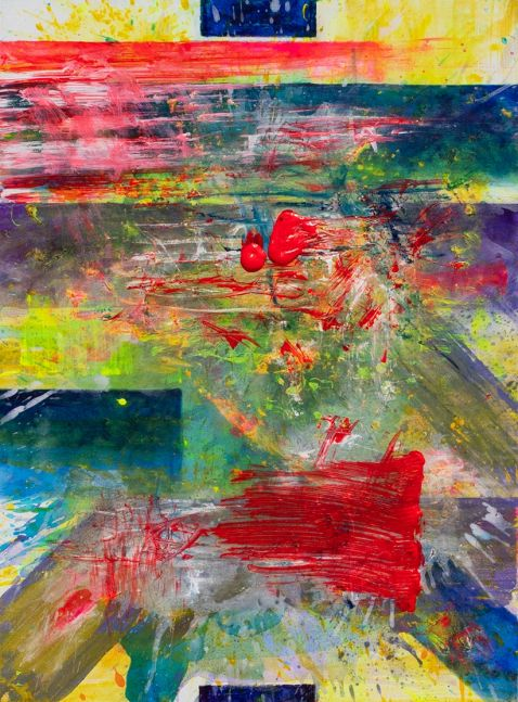 J. Steven Manolis, Palm Beach Light - Regatta, 2019, acrylic, 40 x 30 inches, Abstract expressionism paintings for sale at Manolis Projects Art Gallery, Miami, Fl